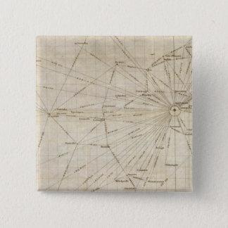米国の図表 5.1CM 正方形バッジ
