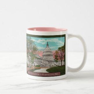 米国の国会議事堂のヴィンテージのコーヒー・マグ ツートーンマグカップ