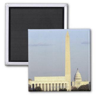 米国の国会議事堂の建物とのWashington D.C.のスカイライン マグネット