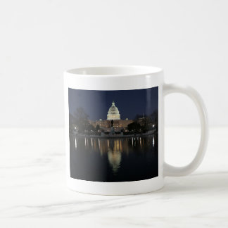 米国の国会議事堂の建物夜 コーヒーマグカップ