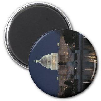 米国の国会議事堂の建物夜 マグネット
