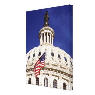 米国の国会議事堂の建物、Washington D.C. キャンバスプリント