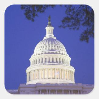 米国の国会議事堂夜にの円形建築、ワシントン州 スクエアシール