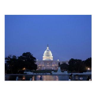 米国の国会議事堂夜写真 ポストカード