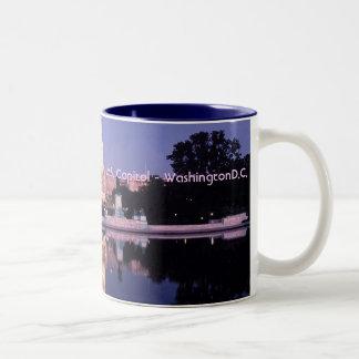 米国の国会議事堂 ツートーンマグカップ