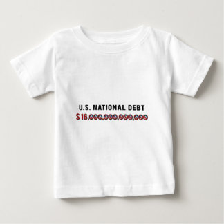 米国の国家債務 ベビーTシャツ