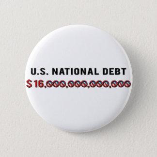 米国の国家債務 5.7CM 丸型バッジ
