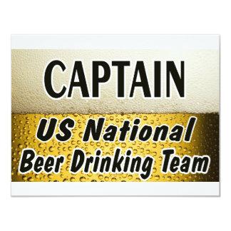 米国の国民ビール飲むチーム カード