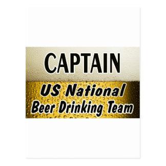 米国の国民ビール飲むチーム ポストカード