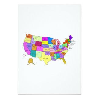 米国の地図 カード