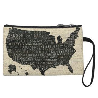 米国の地図 クラッチ