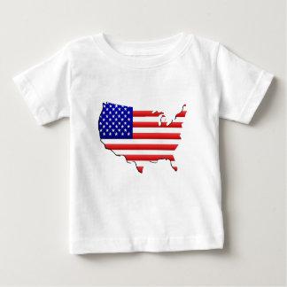 米国の地図 ベビーTシャツ