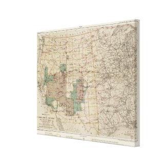 米国の地理的な調査2の1878進歩の地図 キャンバスプリント