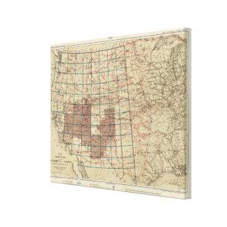 米国の地理的な調査 キャンバスプリント
