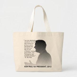 米国の大統領、2012年のためのロン・ポール ラージトートバッグ