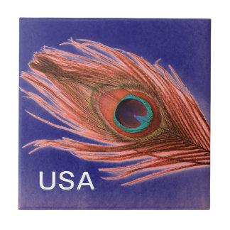 米国の孔雀の羽 タイル