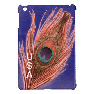 米国の孔雀の羽 iPad MINI カバー