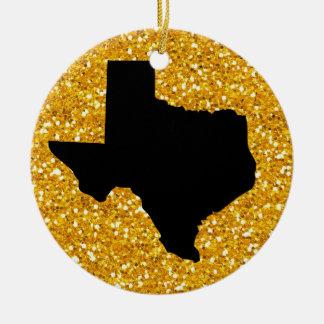 米国の州テキサス州- SRF セラミックオーナメント