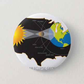 米国の幾何学を渡る2017総日食 5.7CM 丸型バッジ