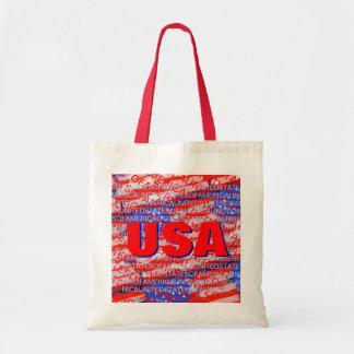 米国の愛国心が強い国旗 トートバッグ