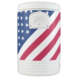 米国の愛国心が強く赤く青い白のストライプ7月第4 ドリンククーラー