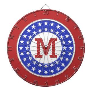 米国の愛国者のカスタムなモノグラムの投げ矢板 ダーツボード