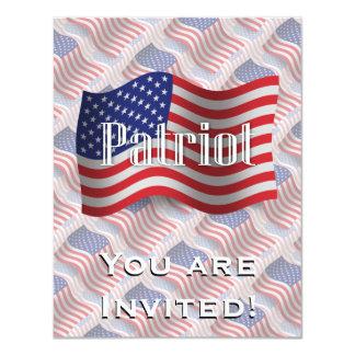 米国の愛国者の振る旗 カード
