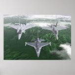 米国の戦闘機のトリオ ポスター