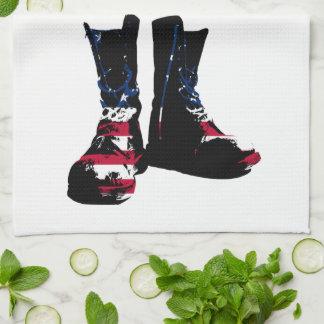 米国の戦闘用ブーツ キッチンタオル