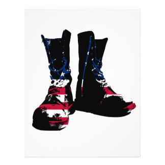 米国の戦闘用ブーツ チラシ
