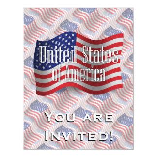 米国の振る旗 カード