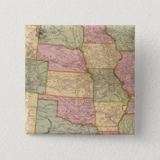 米国の新しい鉄道地図 5.1CM 正方形バッジ