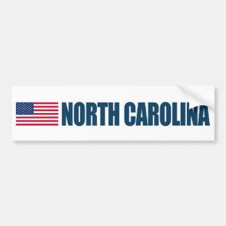 米国の旗が付いているノースカロライナ バンパーステッカー