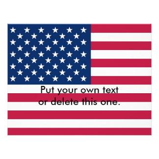 米国の旗が付いているフライヤ チラシ