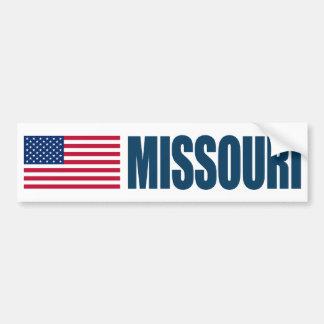 米国の旗が付いているミズーリ バンパーステッカー