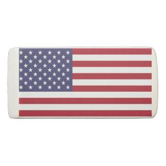 米国の旗が付いている愛国心が強いくさびの消す物 消しゴム