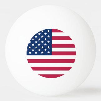 米国の旗が付いている愛国心が強く、特別なピンポン球 卓球ボール