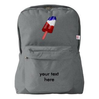米国の旗によって着色されるアイスキャンデー水色 AMERICAN APPAREL™バックパック