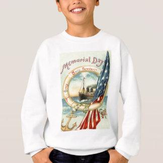 米国の旗のいかりによっては救命具が開花します スウェットシャツ