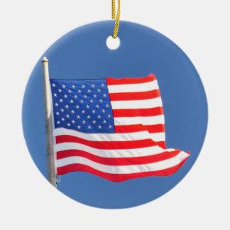 米国の旗のオーナメント セラミックオーナメント