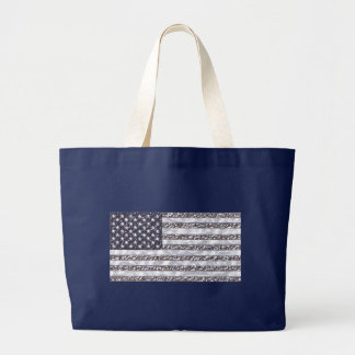 米国の旗のクロム ラージトートバッグ