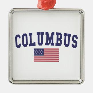 米国の旗のコロンブス メタルオーナメント