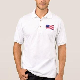米国の旗のゴルフポロ ポロシャツ