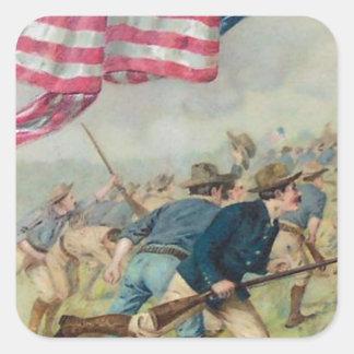 米国の旗のサンファン丘ルーズベルト スクエアシール