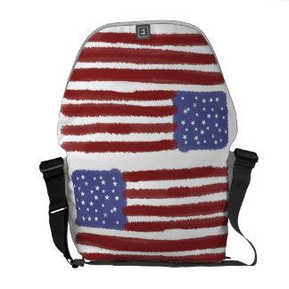 米国の旗のバッグ クーリエバッグ