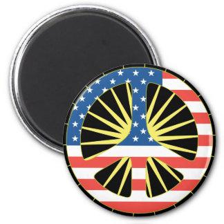 米国の旗のピースマーク マグネット