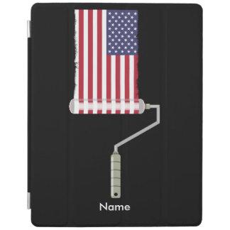米国の旗のペンキローラー iPadスマートカバー