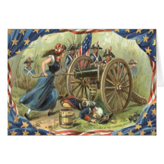 米国の旗のモーリーの水差しの大砲 カード