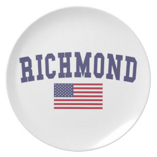 米国の旗のリッチモンド プレート