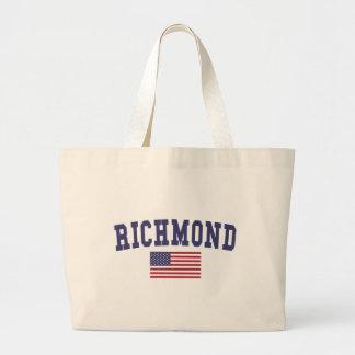 米国の旗のリッチモンド ラージトートバッグ